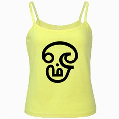 Hindu Om Symbol In Tamil Yellow Spaghetti Tank by abbeyz71