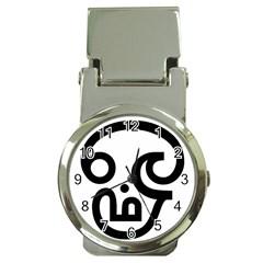 Hindu Om Symbol In Tamil Money Clip Watches by abbeyz71