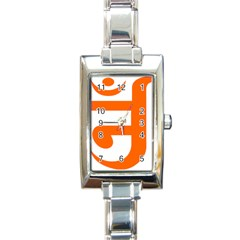 Om Symbol In Jainism  Rectangle Italian Charm Watch by abbeyz71