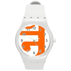 Om Symbol In Jainism  Round Plastic Sport Watch (m) by abbeyz71