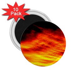 Black Yellow Red Sunset 2 25  Magnets (10 Pack)