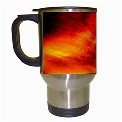 Black Yellow Red Sunset Travel Mugs (white) by Costasonlineshop