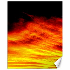 Black Yellow Red Sunset Canvas 16  X 20