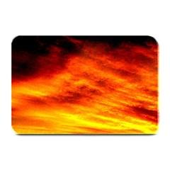 Black Yellow Red Sunset Plate Mats