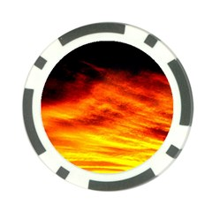 Black Yellow Red Sunset Poker Chip Card Guard (10 Pack)