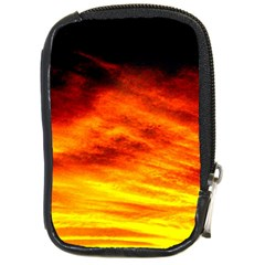Black Yellow Red Sunset Compact Camera Cases by Costasonlineshop