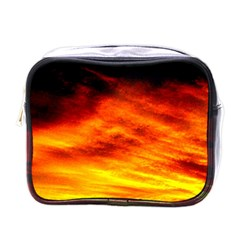 Black Yellow Red Sunset Mini Toiletries Bags by Costasonlineshop