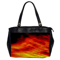 Black Yellow Red Sunset Office Handbags by Costasonlineshop