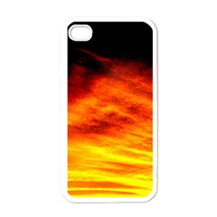 Black Yellow Red Sunset Apple Iphone 4 Case (white)