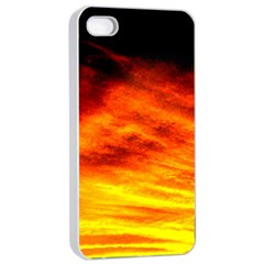 Black Yellow Red Sunset Apple Iphone 4/4s Seamless Case (white) by Costasonlineshop