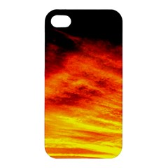 Black Yellow Red Sunset Apple Iphone 4/4s Hardshell Case by Costasonlineshop