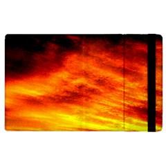 Black Yellow Red Sunset Apple Ipad 2 Flip Case