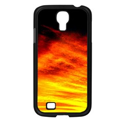 Black Yellow Red Sunset Samsung Galaxy S4 I9500/ I9505 Case (black) by Costasonlineshop