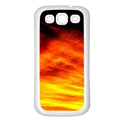 Black Yellow Red Sunset Samsung Galaxy S3 Back Case (white)