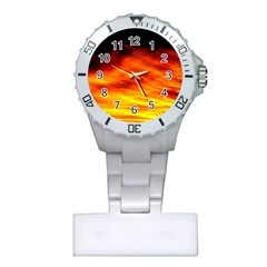 Black Yellow Red Sunset Plastic Nurses Watch