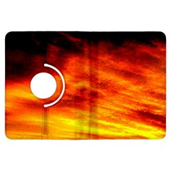 Black Yellow Red Sunset Kindle Fire HDX Flip 360 Case by Costasonlineshop
