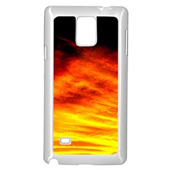 Black Yellow Red Sunset Samsung Galaxy Note 4 Case (white) by Costasonlineshop