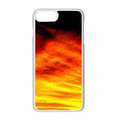 Black Yellow Red Sunset Apple Iphone 7 Plus White Seamless Case by Costasonlineshop