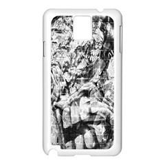 Pattern Samsung Galaxy Note 3 N9005 Case (white) by Valentinaart