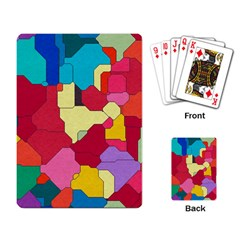 Colorful Leather Pieces             Playing Cards Single Design by LalyLauraFLM