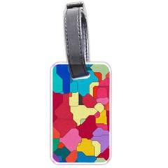 Colorful Leather Pieces             Luggage Tag (one Side) by LalyLauraFLM