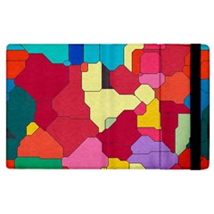 Colorful leather pieces       Kindle Fire (1st Gen) Flip Case by LalyLauraFLM