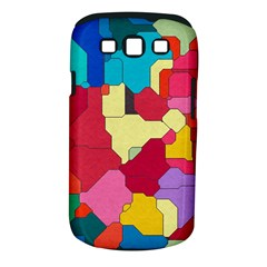 Colorful Leather Pieces       Samsung Galaxy S Ii I9100 Hardshell Case (pc+silicone) by LalyLauraFLM
