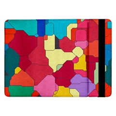 Colorful Leather Pieces       Samsung Galaxy Tab Pro 10 1  Flip Case by LalyLauraFLM