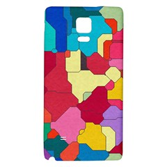 Colorful Leather Pieces       Samsung Galaxy Note Edge Hardshell Case by LalyLauraFLM
