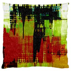 Grunge Texture       Large Flano Cushion Case (two Sides) by LalyLauraFLM