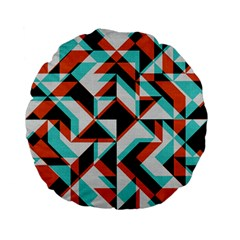 4 Colors Shapes    Standard 15  Premium Flano Round Cushion by LalyLauraFLM