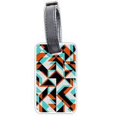 4 Colors Shapes          Luggage Tag (one Side) by LalyLauraFLM