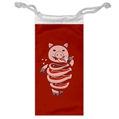 Red Stupid Self Eating Gluttonous Pig Jewelry Bag by CreaturesStore