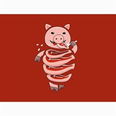 Red Stupid Self Eating Gluttonous Pig Canvas 36  X 48   by CreaturesStore