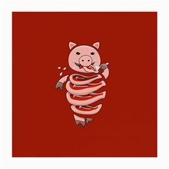 Red Stupid Self Eating Gluttonous Pig Medium Glasses Cloth (2 Side) by CreaturesStore