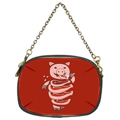 Red Stupid Self Eating Gluttonous Pig Chain Purses (one Side)  by CreaturesStore