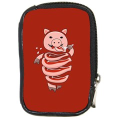 Red Stupid Self Eating Gluttonous Pig Compact Camera Cases by CreaturesStore
