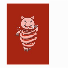 Red Stupid Self Eating Gluttonous Pig Small Garden Flag (two Sides) by CreaturesStore