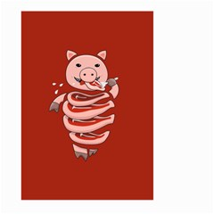 Red Stupid Self Eating Gluttonous Pig Large Garden Flag (two Sides) by CreaturesStore