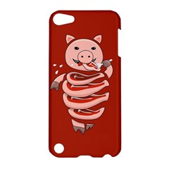 Red Stupid Self Eating Gluttonous Pig Apple Ipod Touch 5 Hardshell Case by CreaturesStore