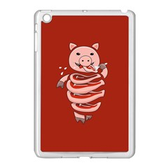 Red Stupid Self Eating Gluttonous Pig Apple Ipad Mini Case (white) by CreaturesStore