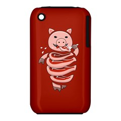 Red Stupid Self Eating Gluttonous Pig Iphone 3s/3gs by CreaturesStore