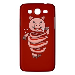 Red Stupid Self Eating Gluttonous Pig Samsung Galaxy Mega 5 8 I9152 Hardshell Case  by CreaturesStore