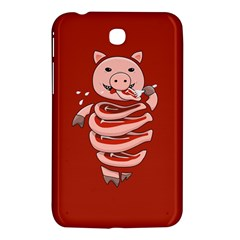 Red Stupid Self Eating Gluttonous Pig Samsung Galaxy Tab 3 (7 ) P3200 Hardshell Case  by CreaturesStore