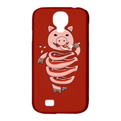 Red Stupid Self Eating Gluttonous Pig Samsung Galaxy S4 Classic Hardshell Case (pc+silicone) by CreaturesStore