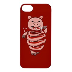 Red Stupid Self Eating Gluttonous Pig Apple Iphone 5s/ Se Hardshell Case by CreaturesStore