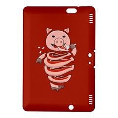 Red Stupid Self Eating Gluttonous Pig Kindle Fire Hdx 8 9  Hardshell Case by CreaturesStore