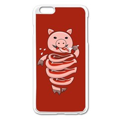 Red Stupid Self Eating Gluttonous Pig Apple Iphone 6 Plus/6s Plus Enamel White Case by CreaturesStore
