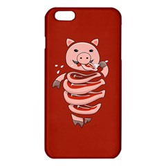Red Stupid Self Eating Gluttonous Pig Iphone 6 Plus/6s Plus Tpu Case by CreaturesStore