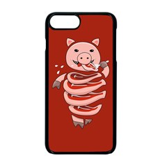 Red Stupid Self Eating Gluttonous Pig Apple Iphone 7 Plus Seamless Case (black) by CreaturesStore